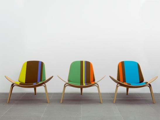 Shell Chairs Big Stripe