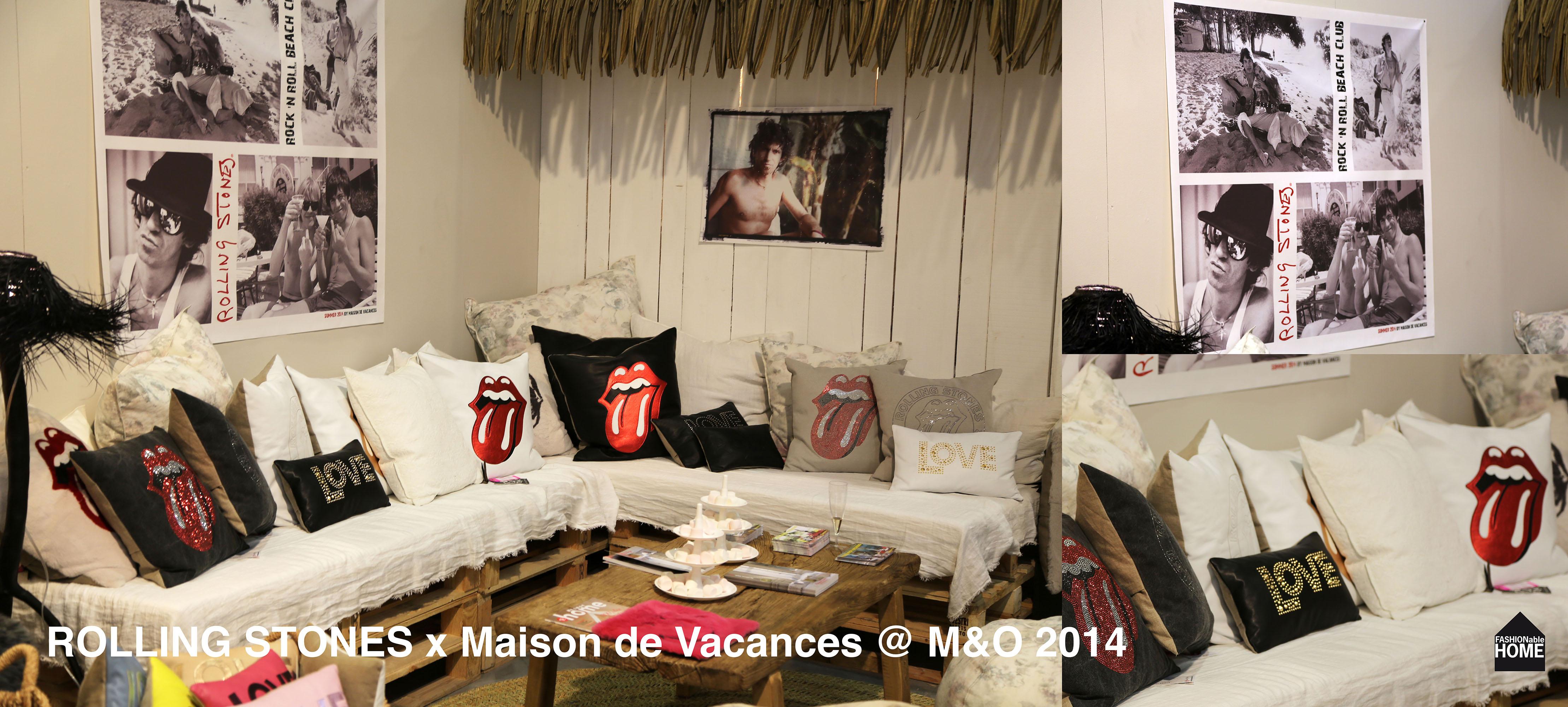 Rolling stones cushions for maison de vacances maison - Maison de vacances deborah french design ...