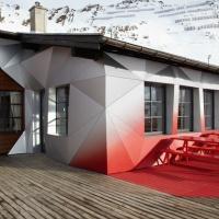 """AUDI Quattro re-designs alpine hut as branded """"home of quattro"""""""