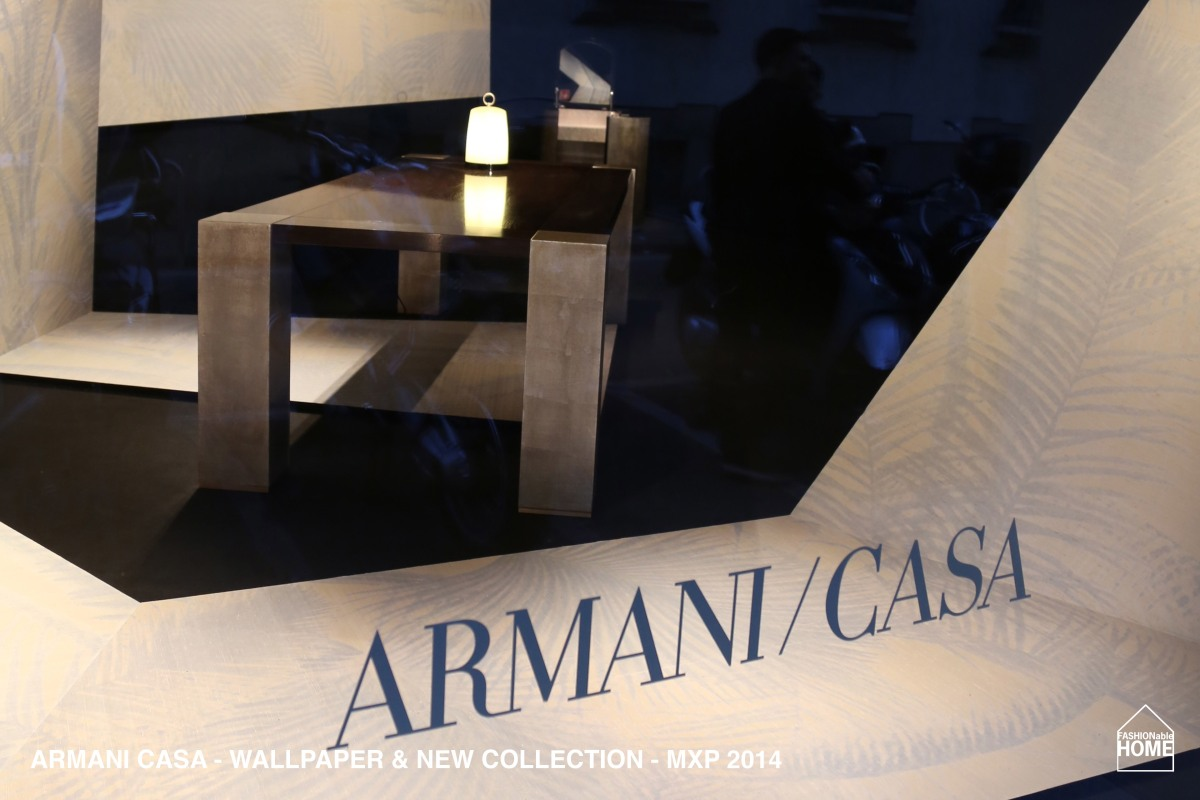 New ARMANI CASA Wallpapers & collection items @ Milano 2014