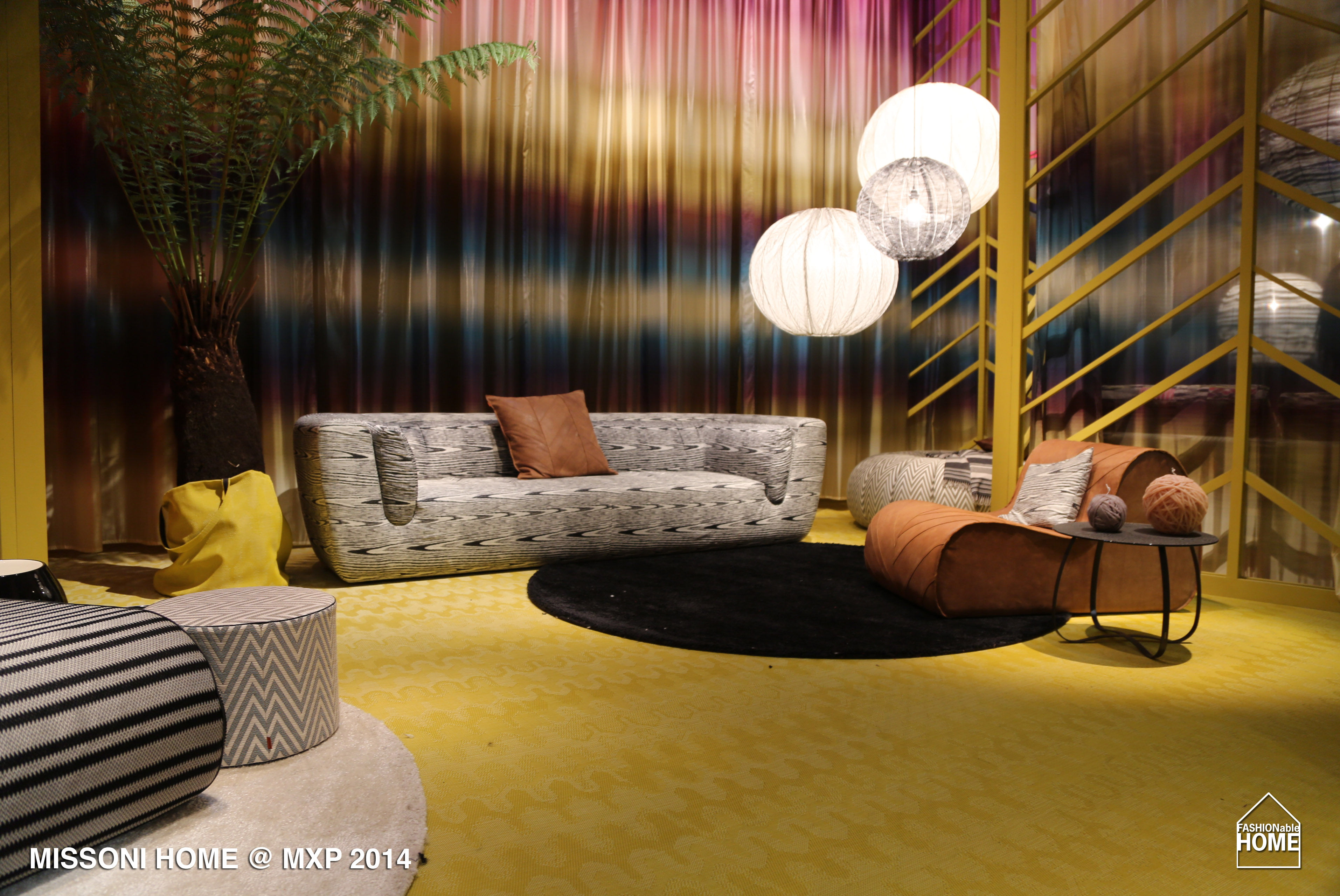 missoni home salone del mobile milano 2014 fashionable home blog. Black Bedroom Furniture Sets. Home Design Ideas