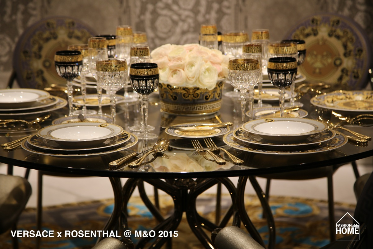 VERSACE HOME @ Maison & Objet 2015 - Black & Golden Glitter.